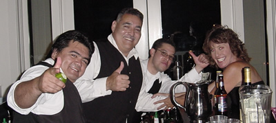Bartending and beverage catering service Southern California for wedding receptions, corporate parties, fundraiser events, celebrations, bachelor and bachelorette parties.